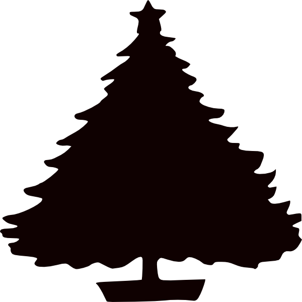 Clipart fire christmas tree. Silhouette images at getdrawings