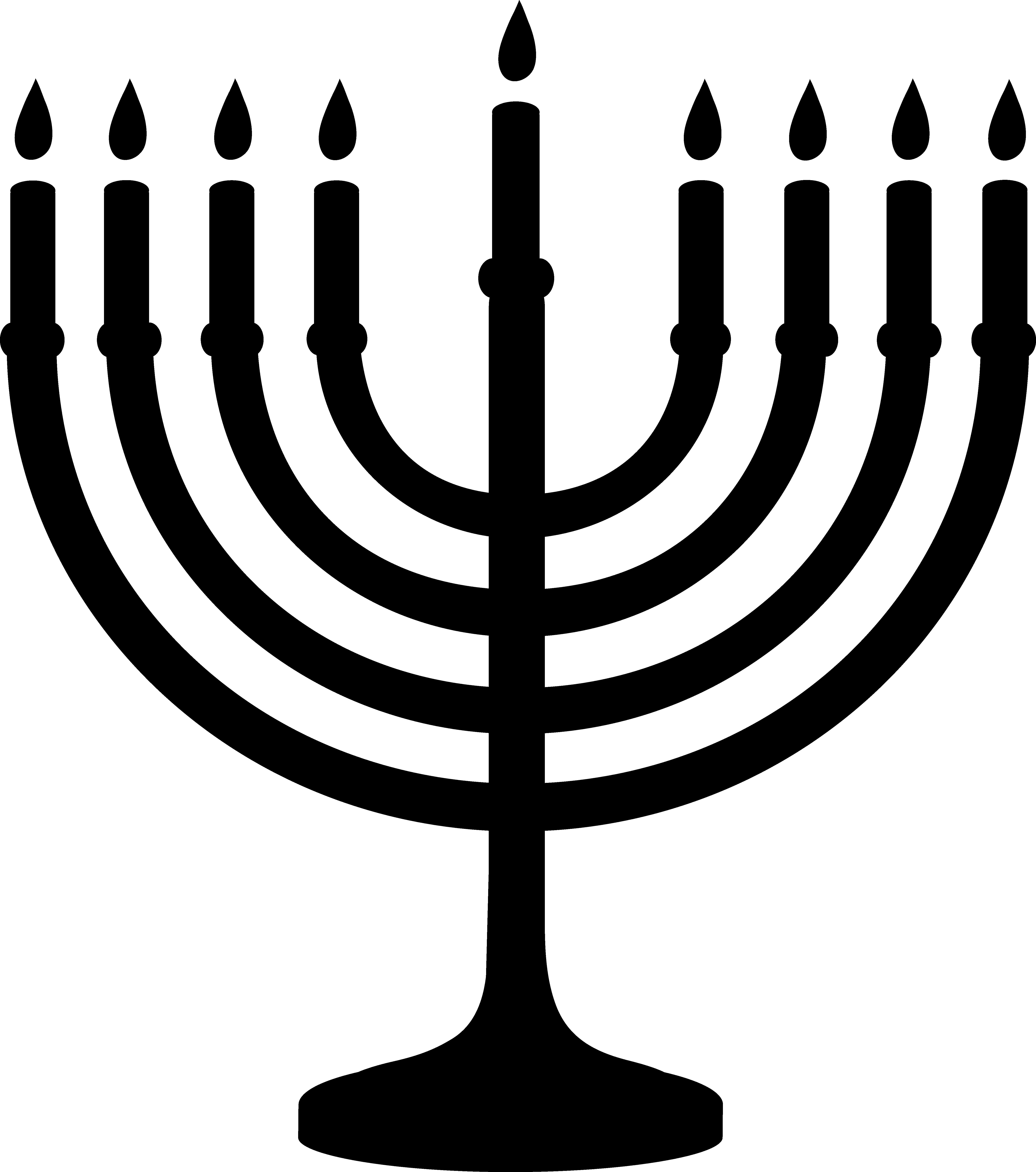 Clipart door passover. Hanukkah menorah silhouette free