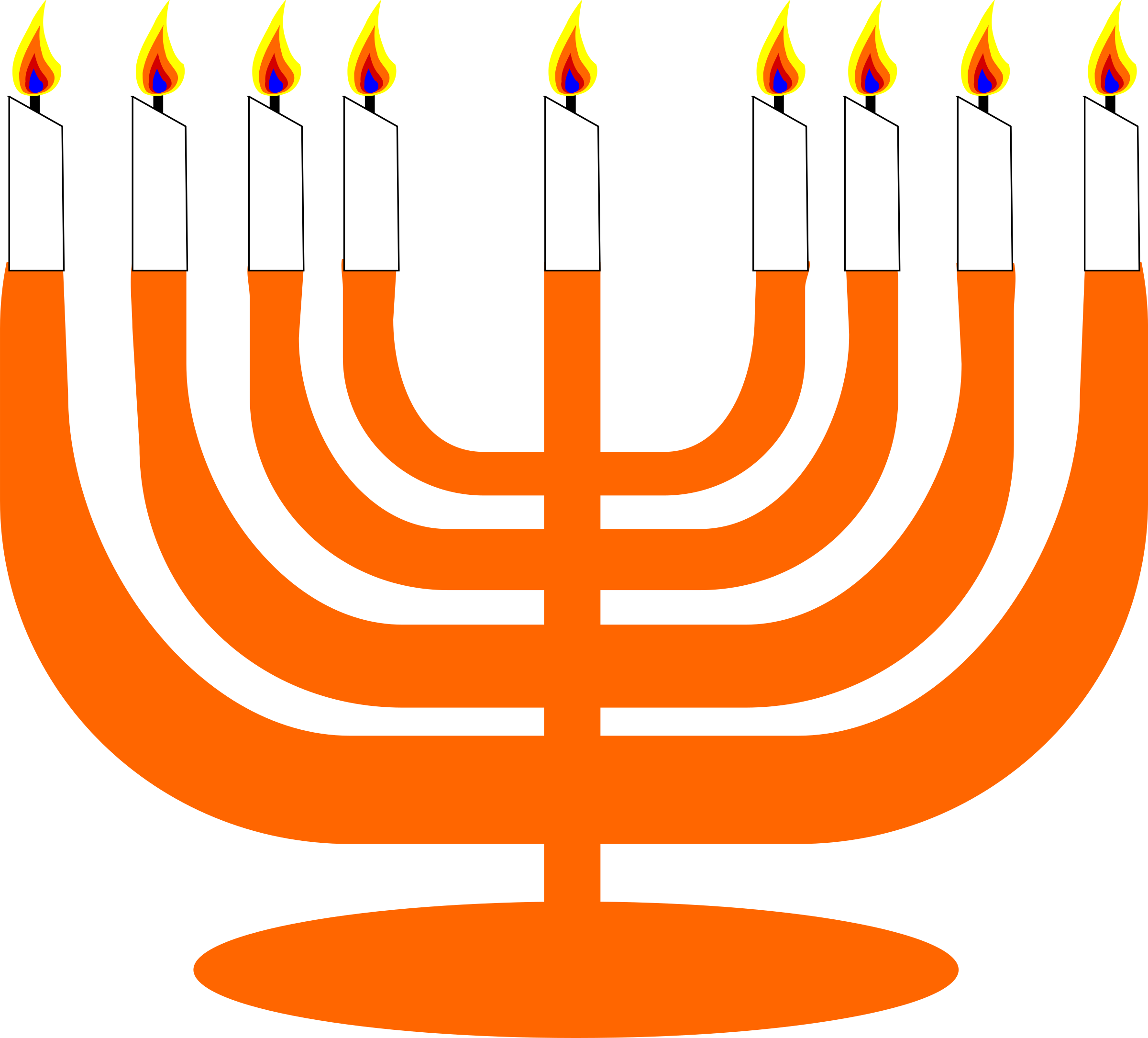 Simple for hanukkah big. Menorah clipart svg