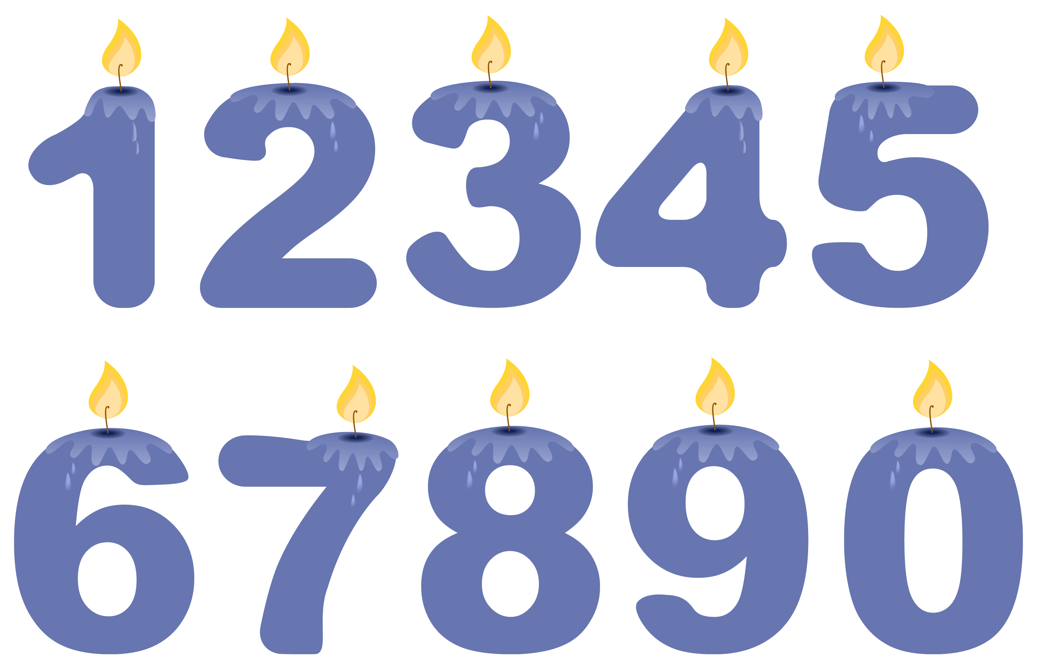 Clipart candle symbol. Transparent numbers birthday candles