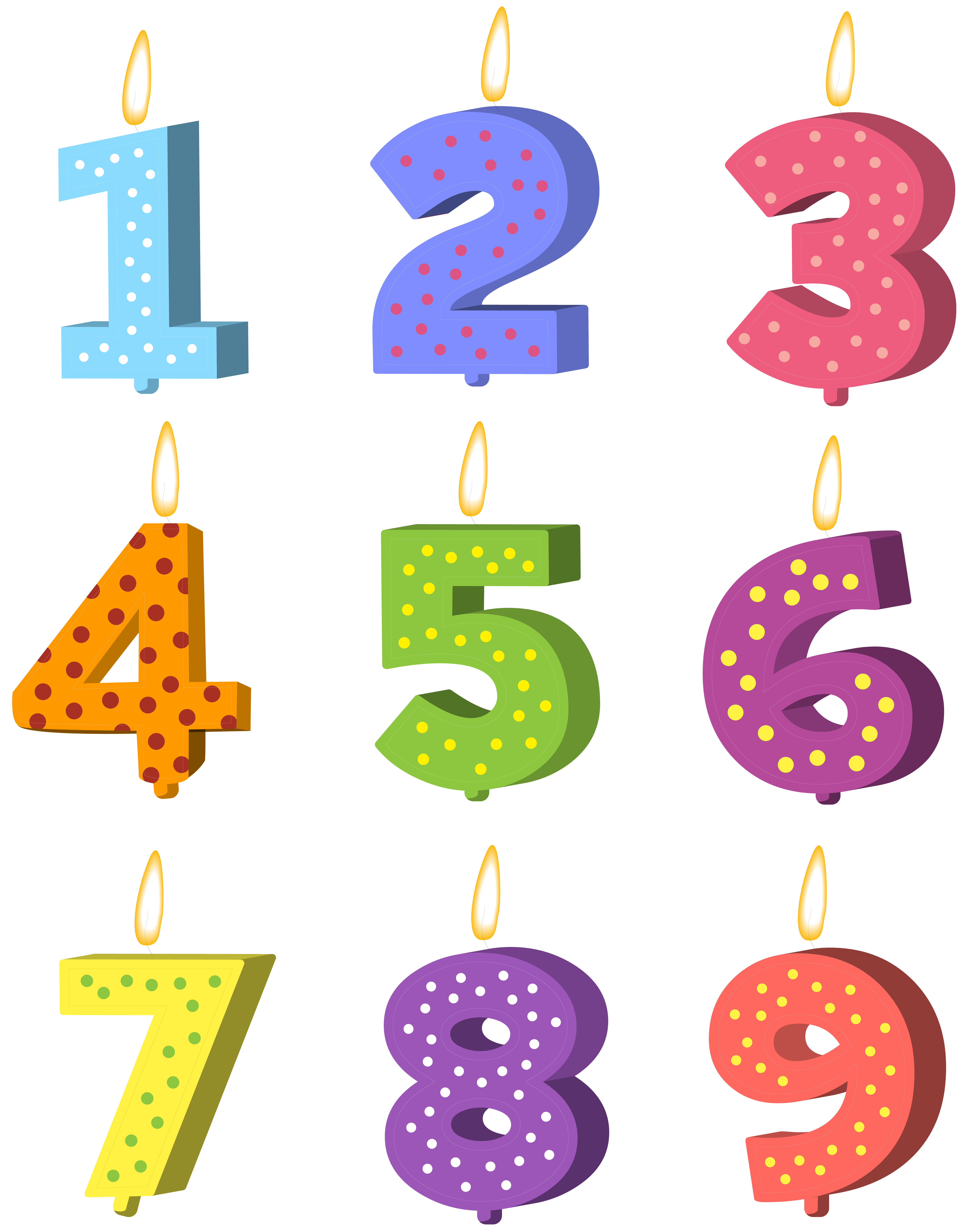 Birthday candles set png. Clipart candle symbol