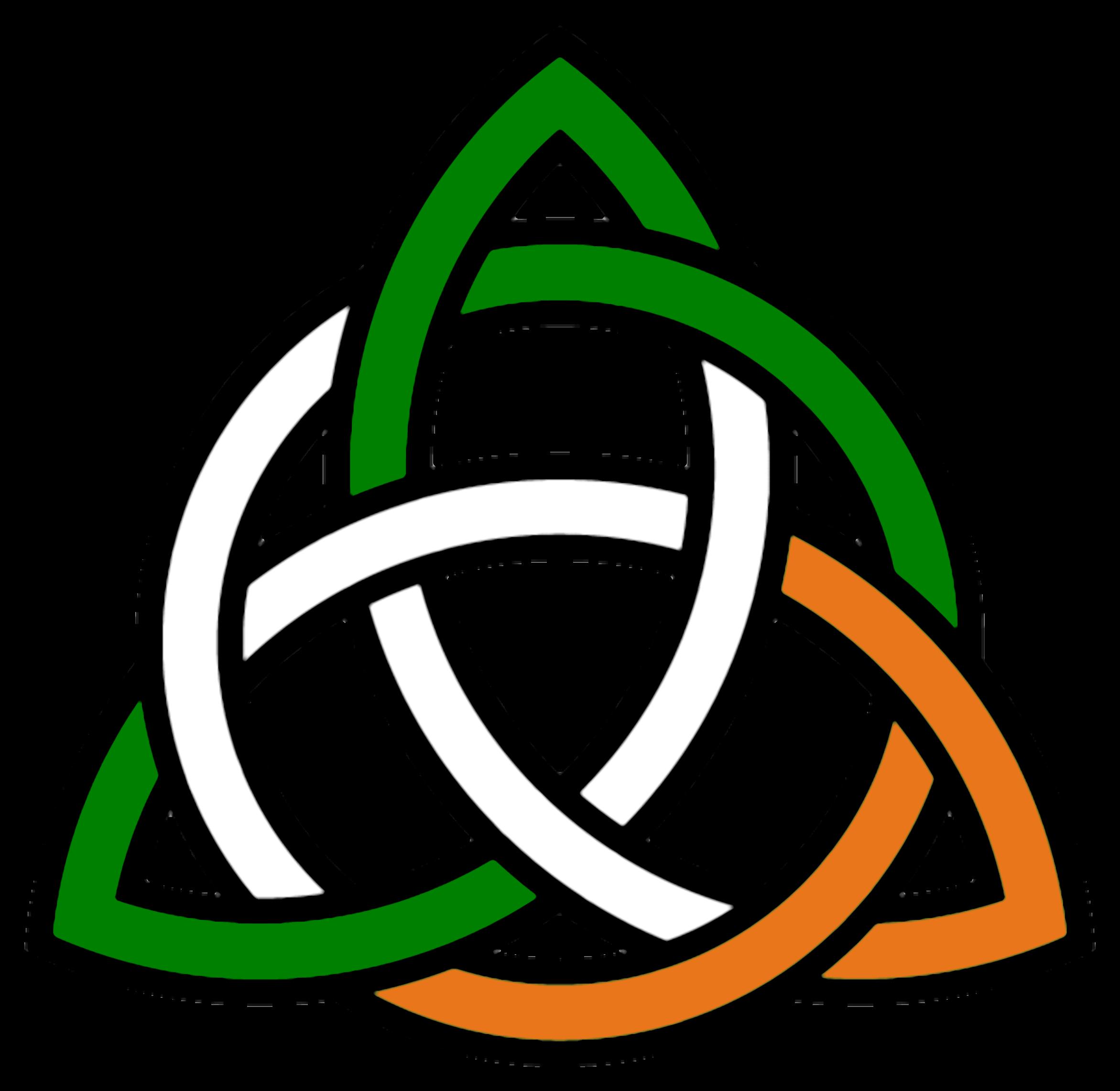Trinity group symbols. Clover clipart glitter