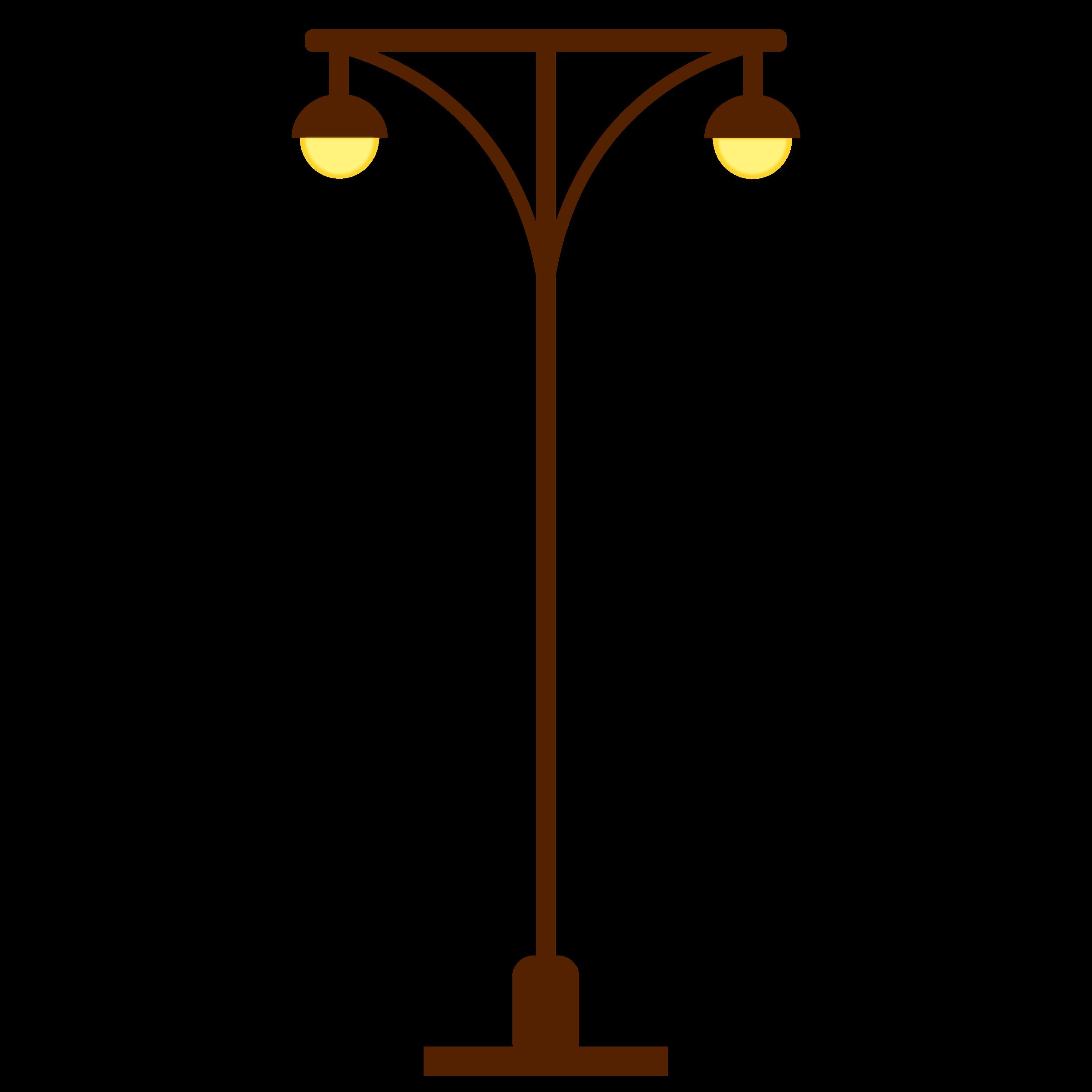 Street post light two. Lamp clipart streetlight