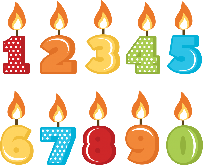 Number one candle Vector Image