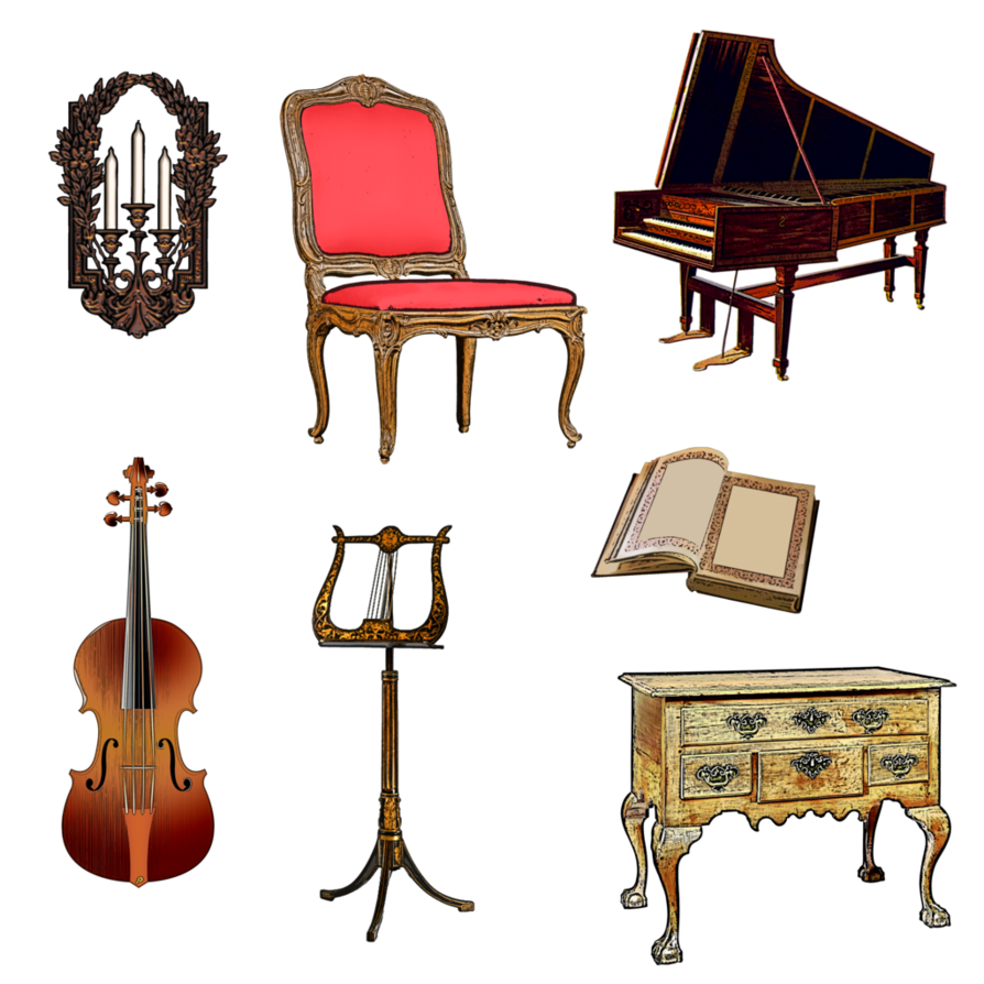Music room by victorian. Piano clipart vintage piano