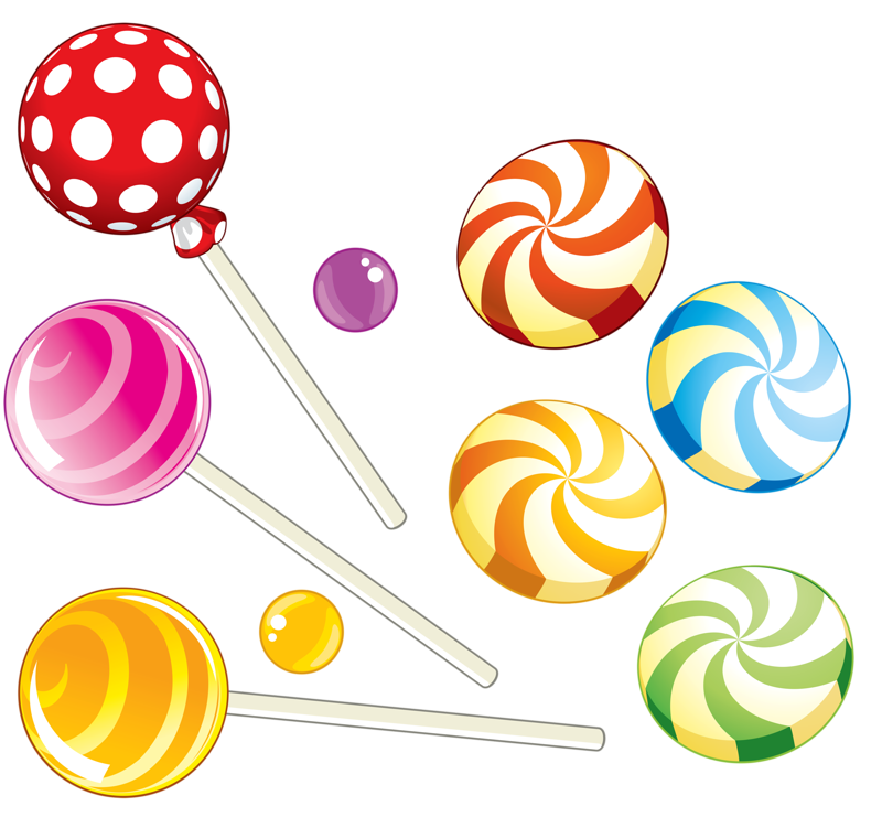 Chocolates pipes sweets cakes. Clipart food candy