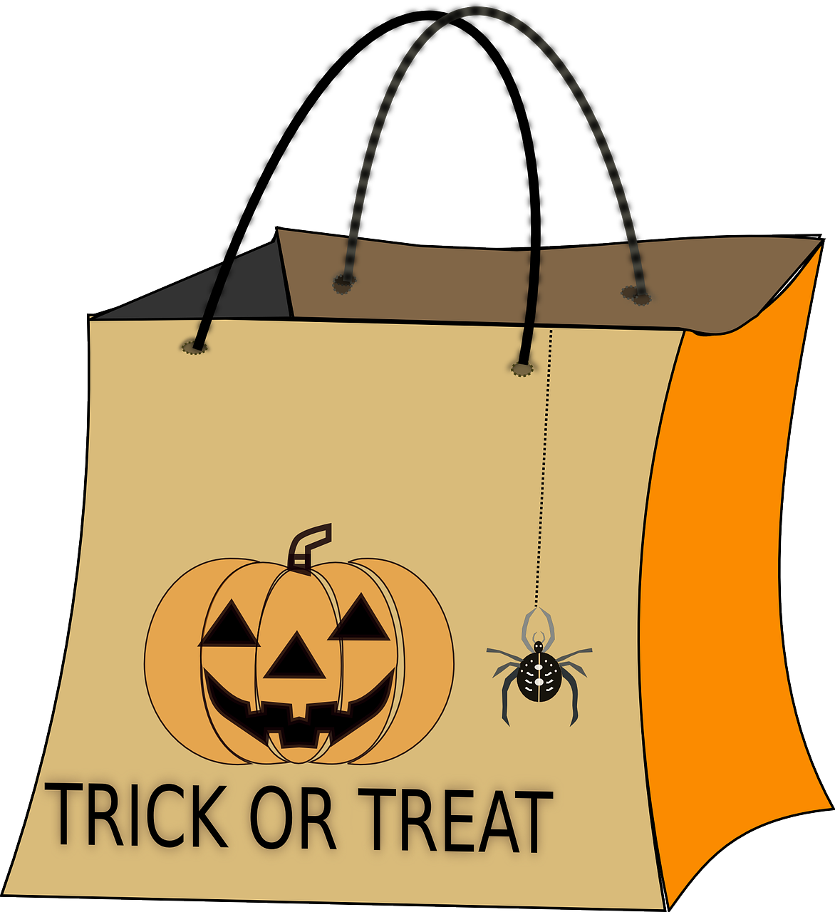 Clipart halloween safety. Trick or treat pails