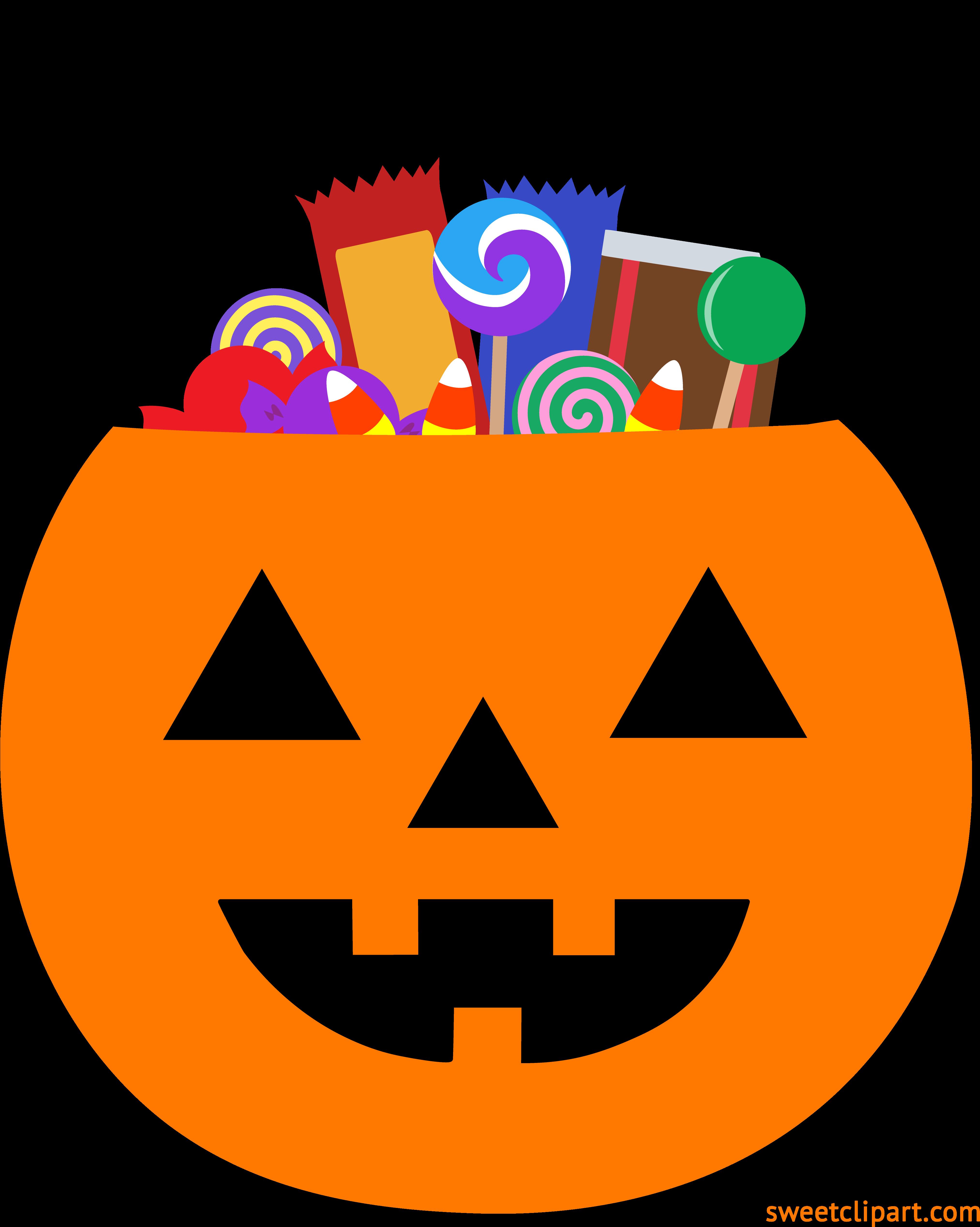 Clipart pumpkin pail. Hd halloween with candy