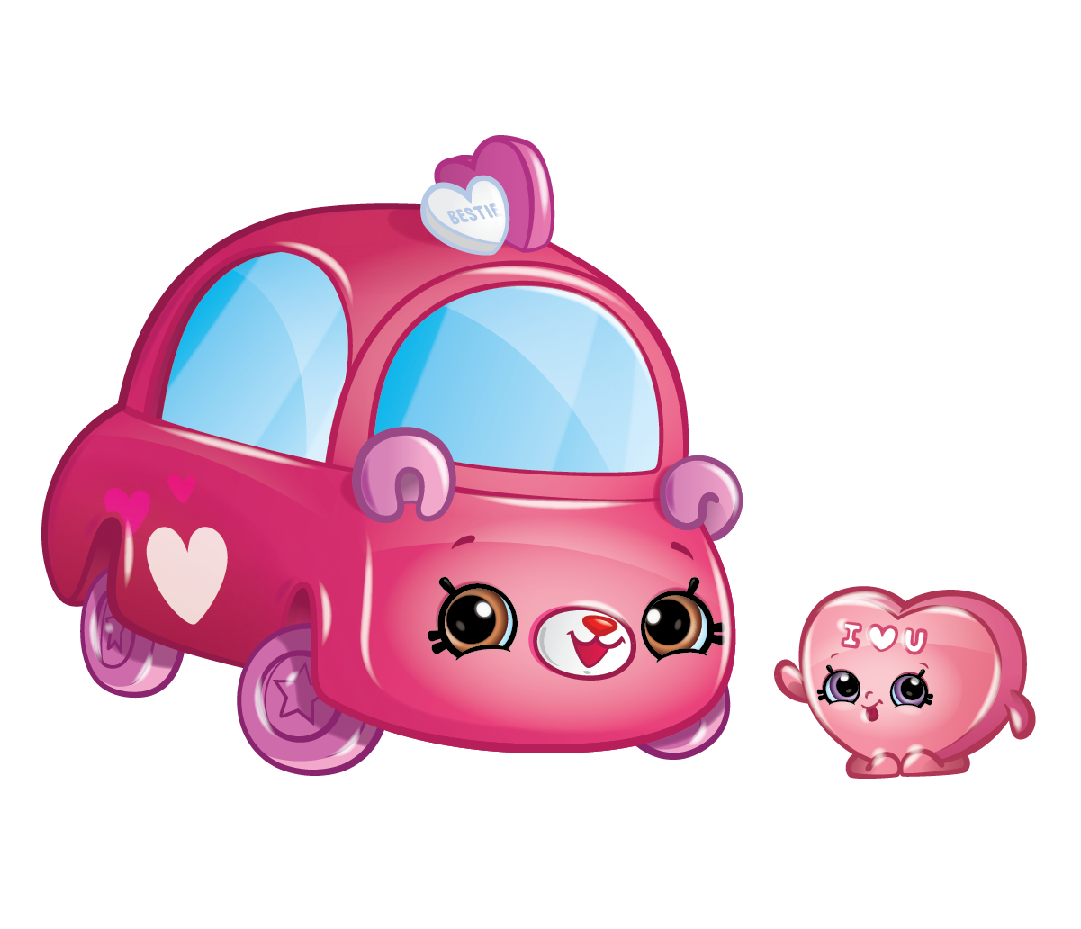 Cutie characters meet your. Clipart cars heart