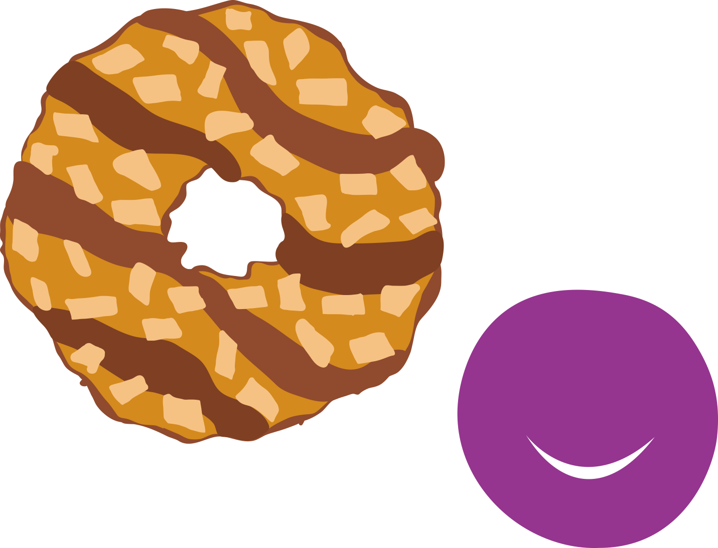Doughnut clipart sugary food. Chocolate chip cookie brownie