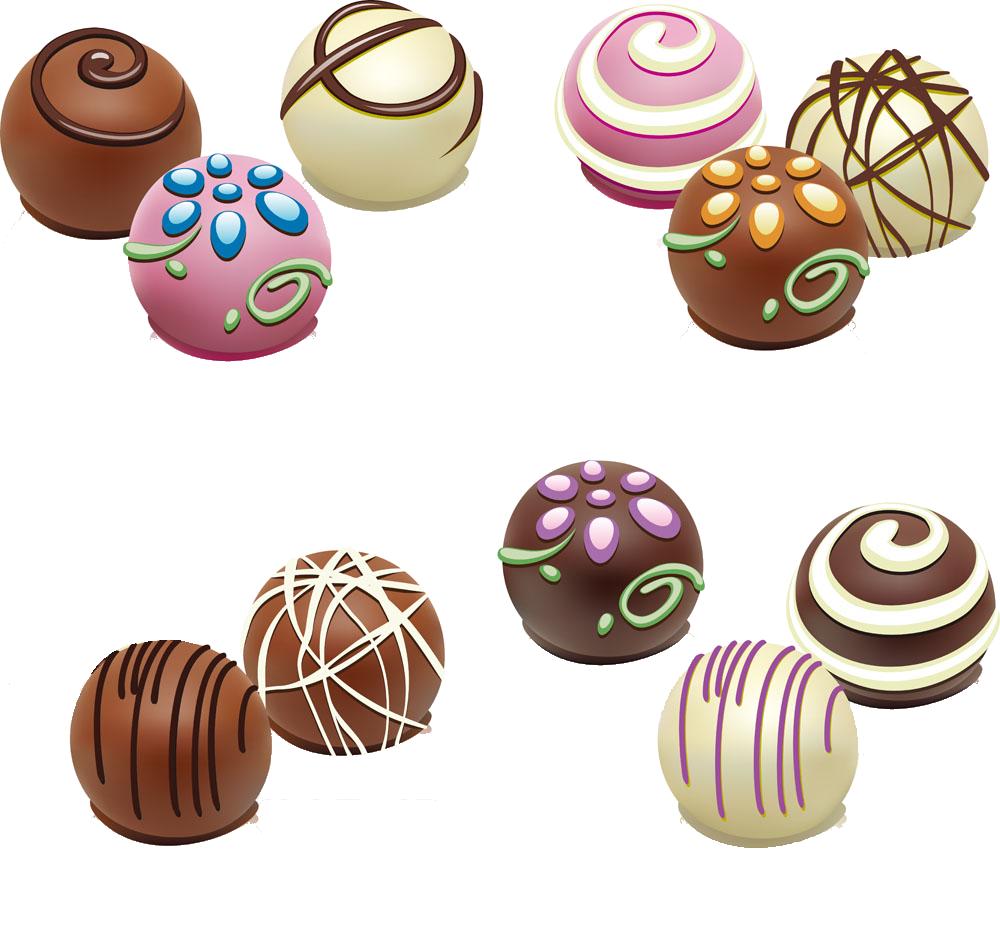 Chocolate truffle bar white. Clipart candy choco balls