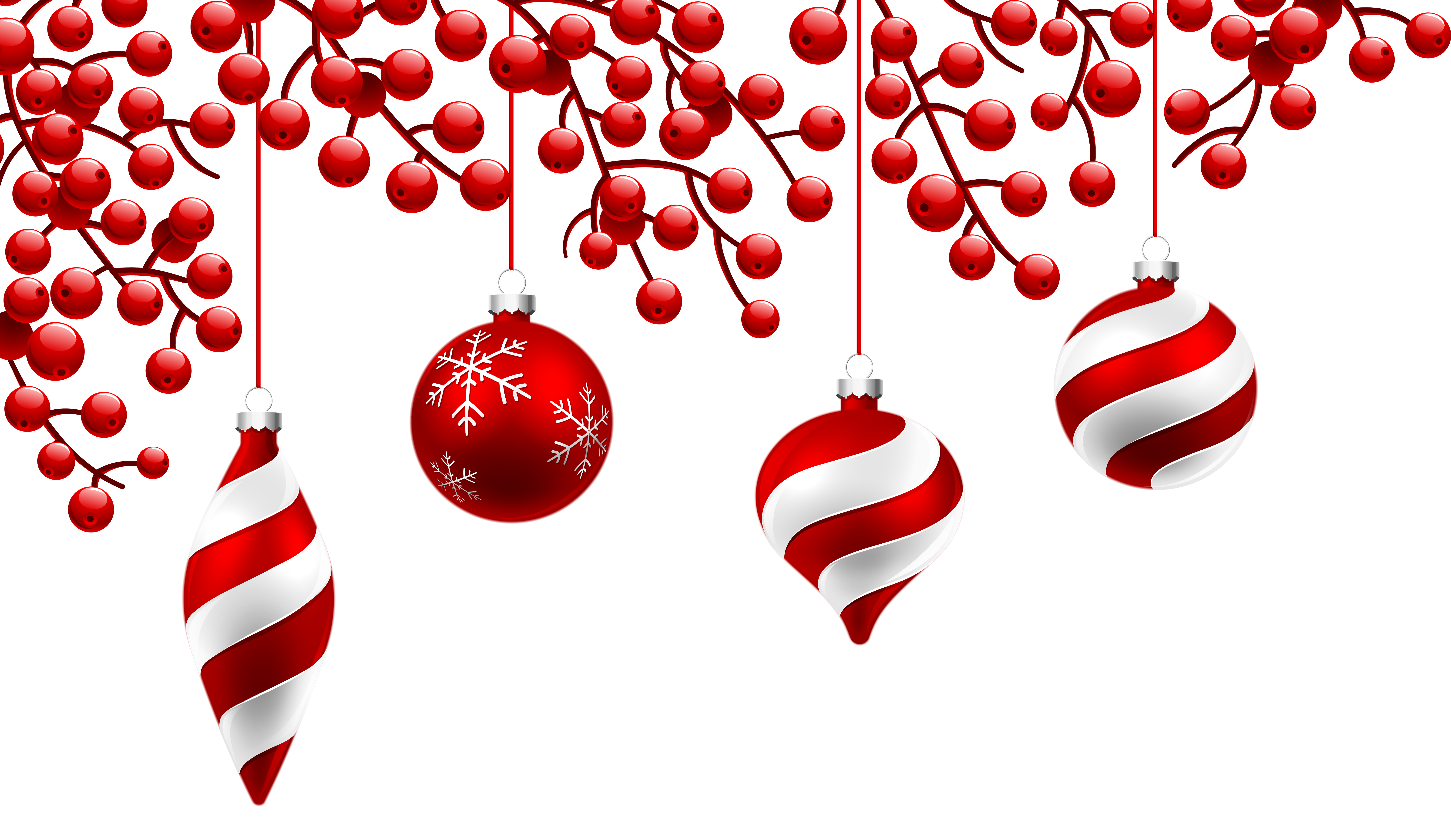 Red christmas decoration png. Clipart wedding ornament