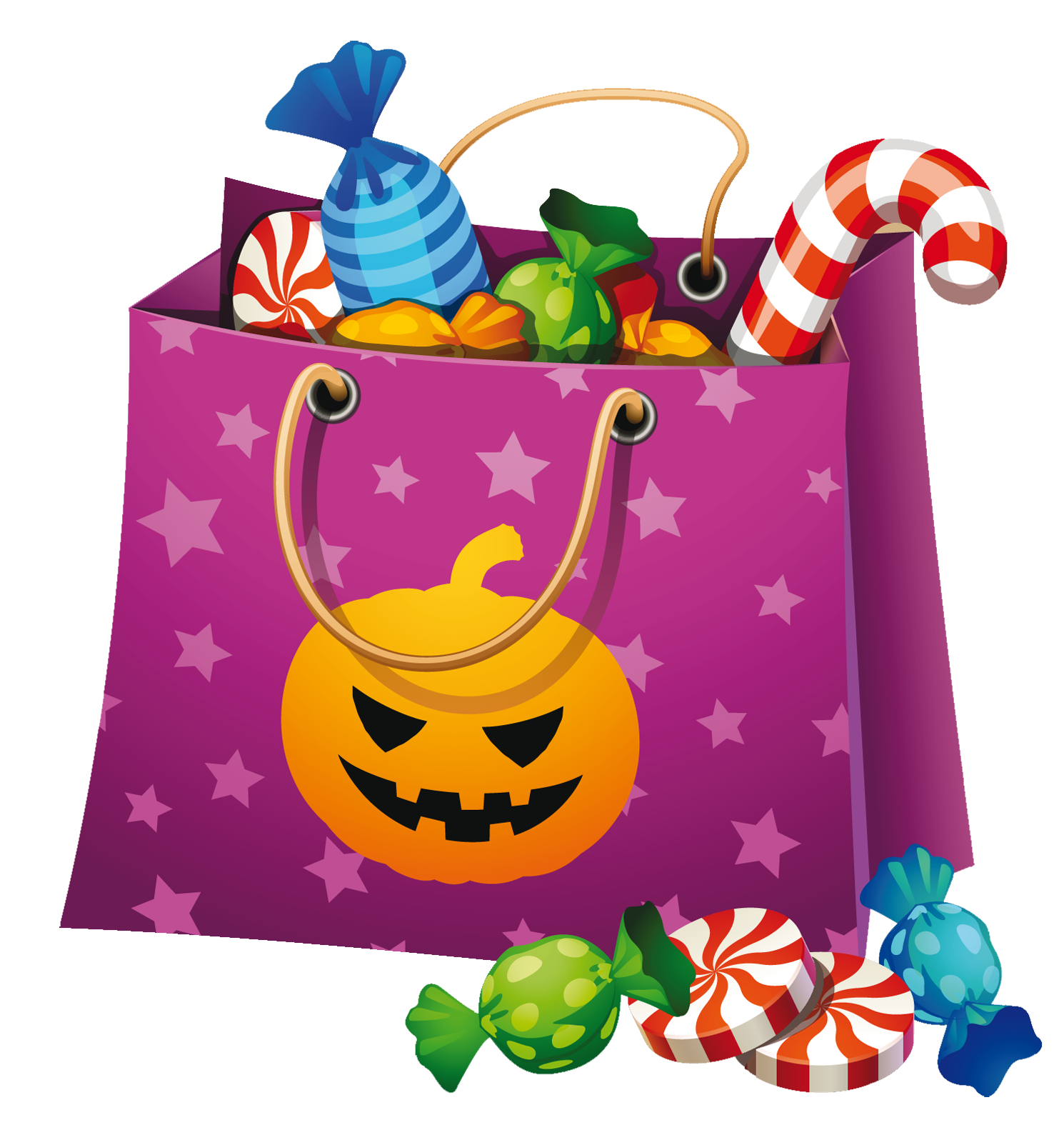 Halloween png candy bag. Heat clipart object