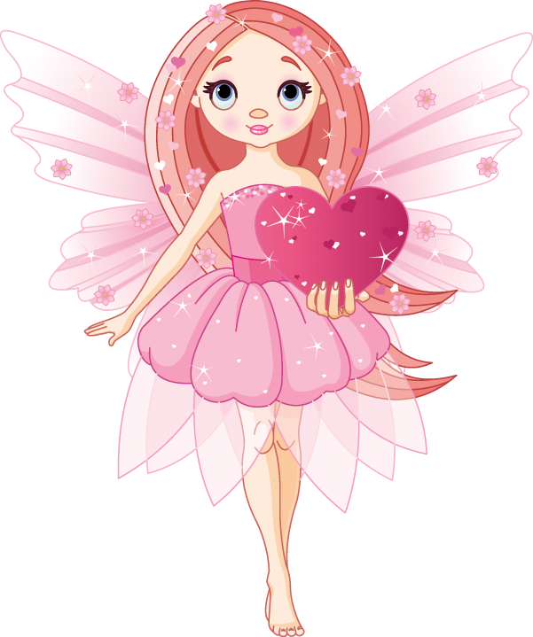 Fairies clipart love. Fairy heart clip art