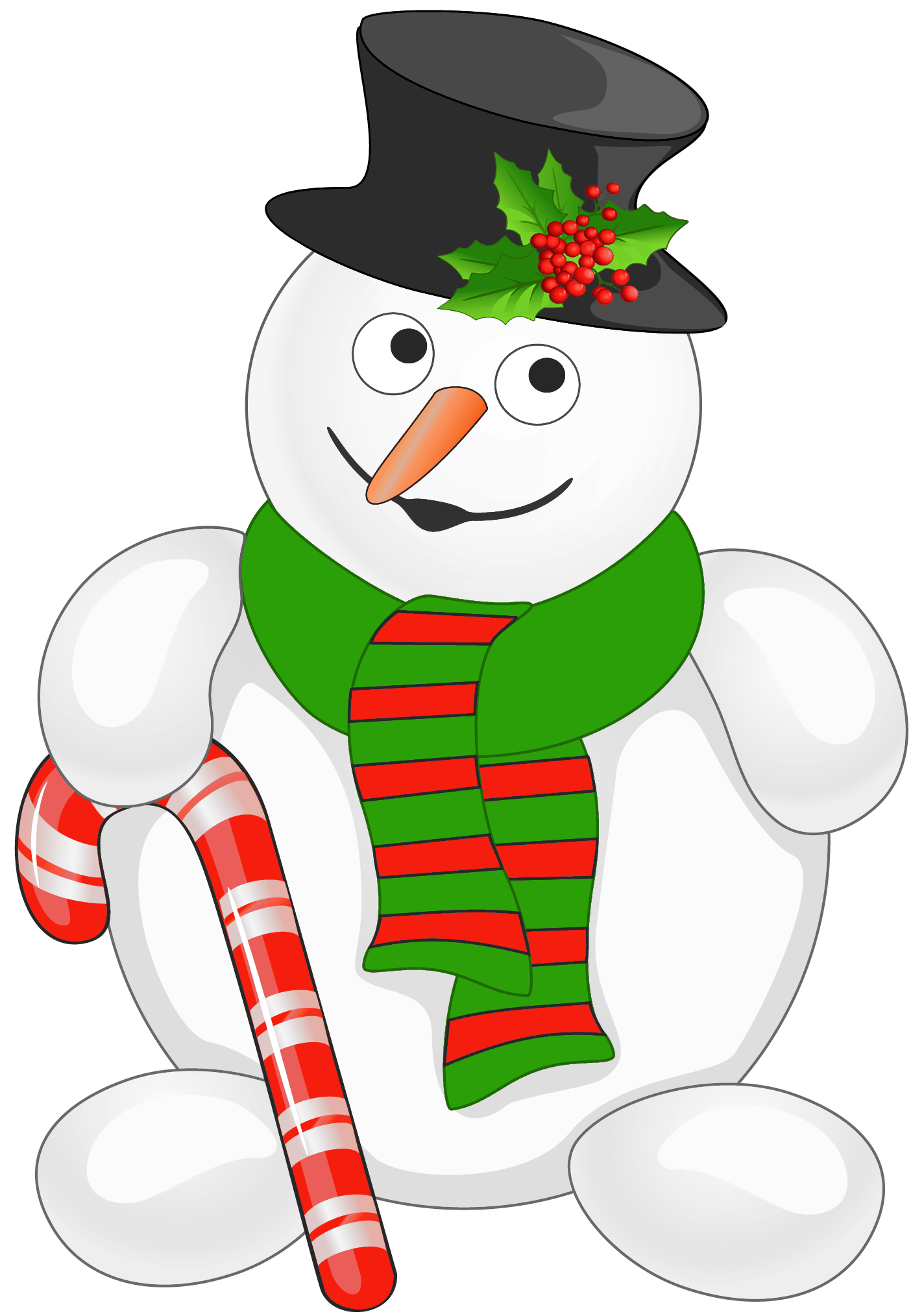 Tree clipart candy. Snowman with cane png