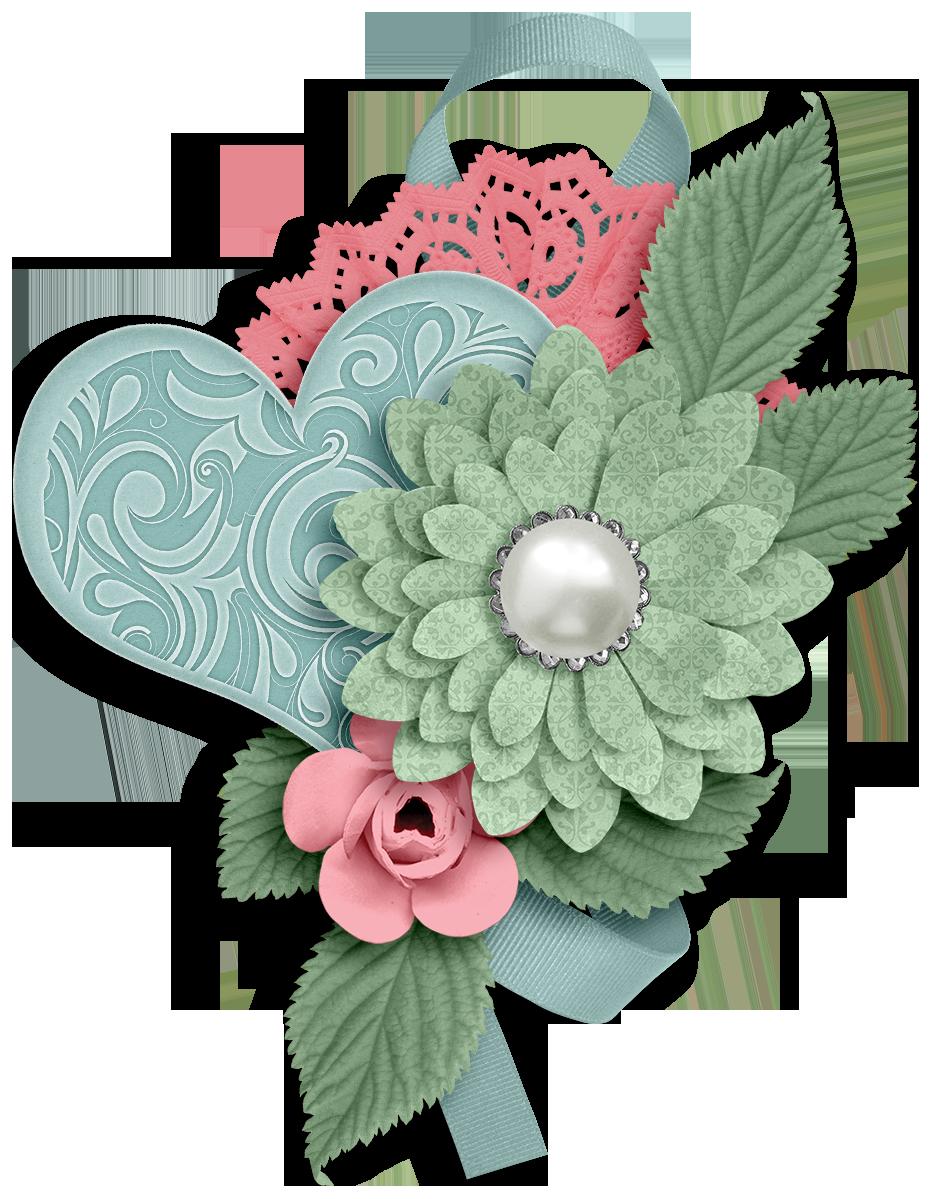 Ch b flower love. Floral clipart trim