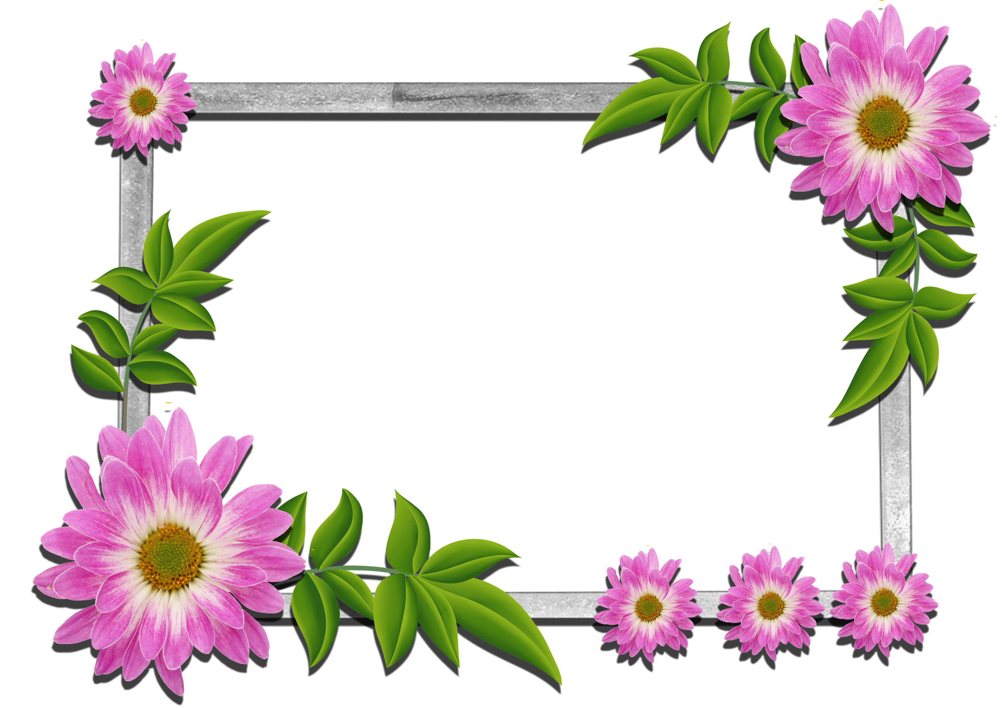 Flowers frame gallery yopriceville. Craft clipart flower