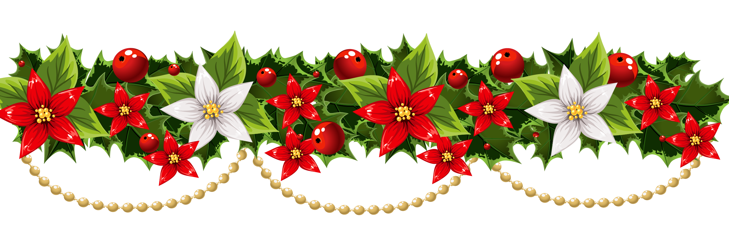 poinsettias clipart ornament