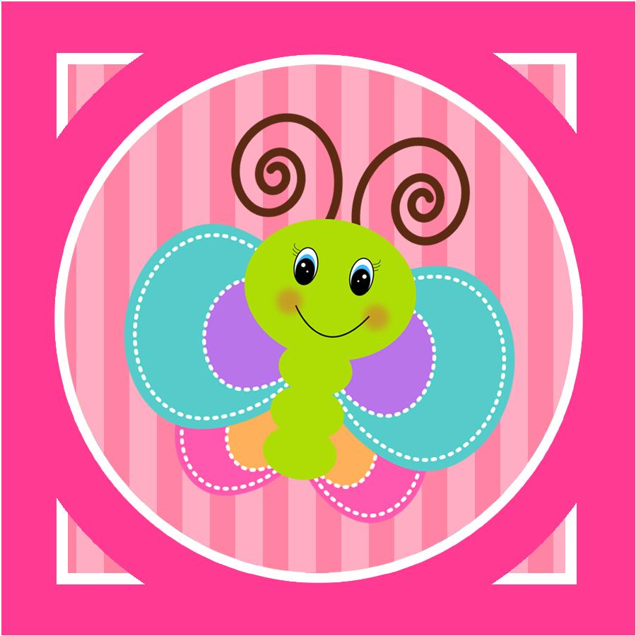 Divertida mariposa etiquetas para. Clipart candy group