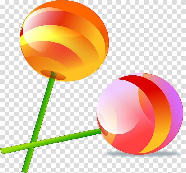 Two lollipop illustrations land. Clipart candy group