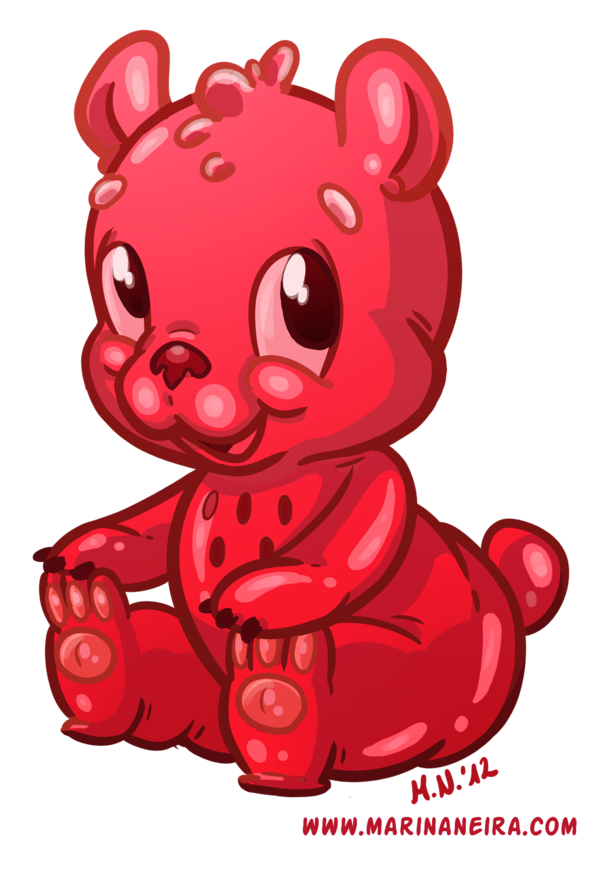 Worm clipart gummy worm. Bear by marinaneira on
