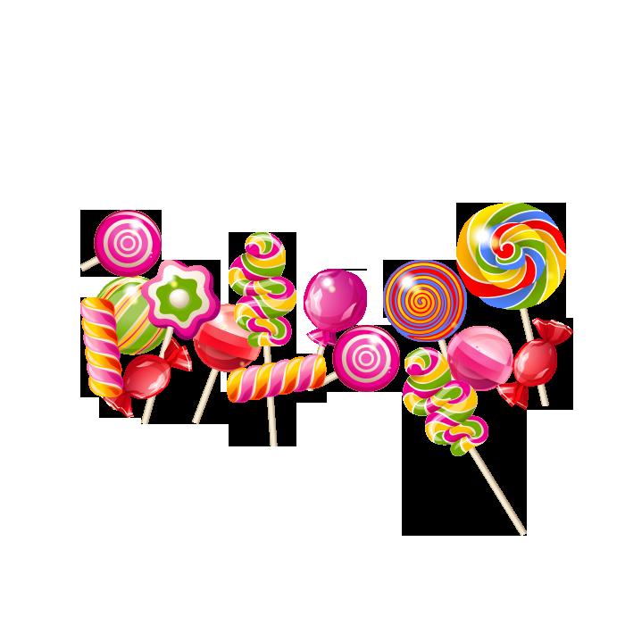 Clip art cartoon transprent. Lollipop clipart many candy