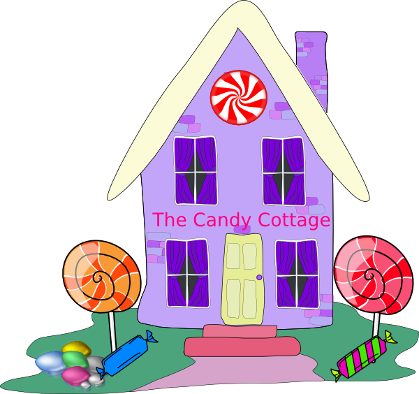 Cottage clip art at. House clipart candy