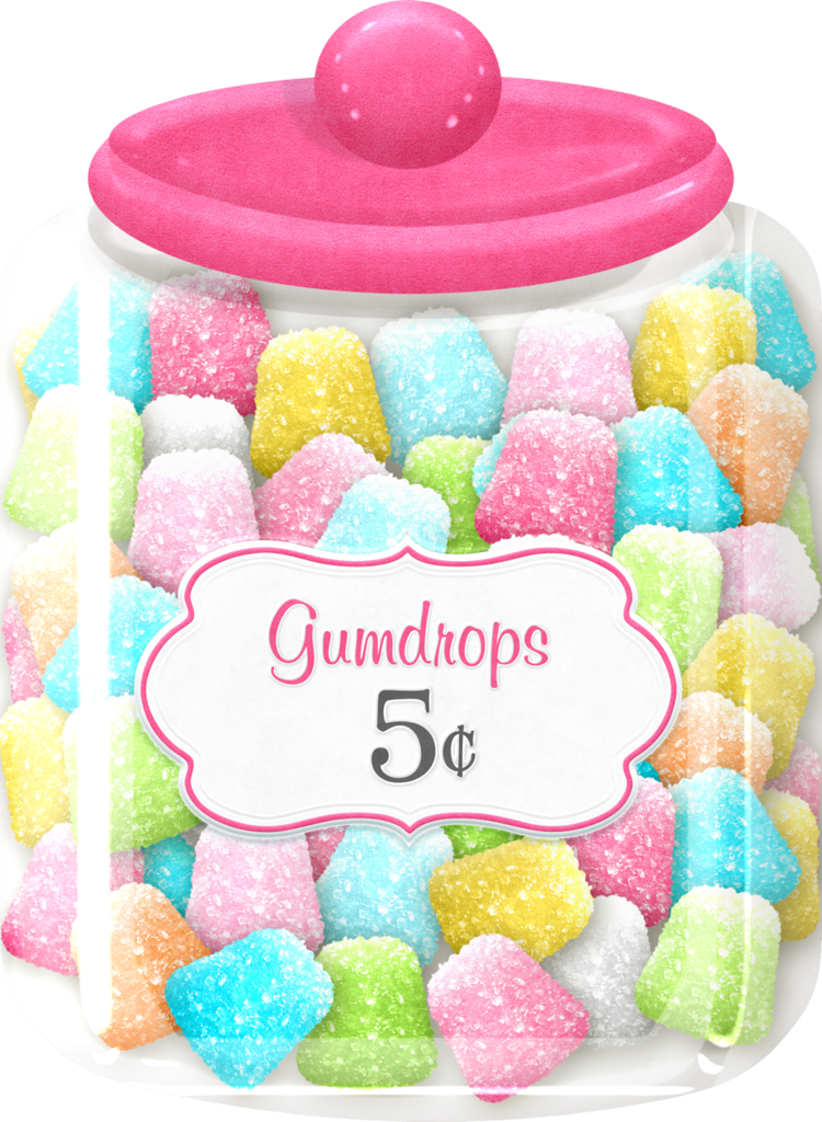 Gumdrops maryfran png pinterest. Jelly clipart sweetie jar