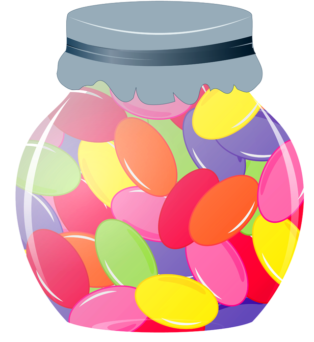 Who wants to eat. Purple clipart jelly bean