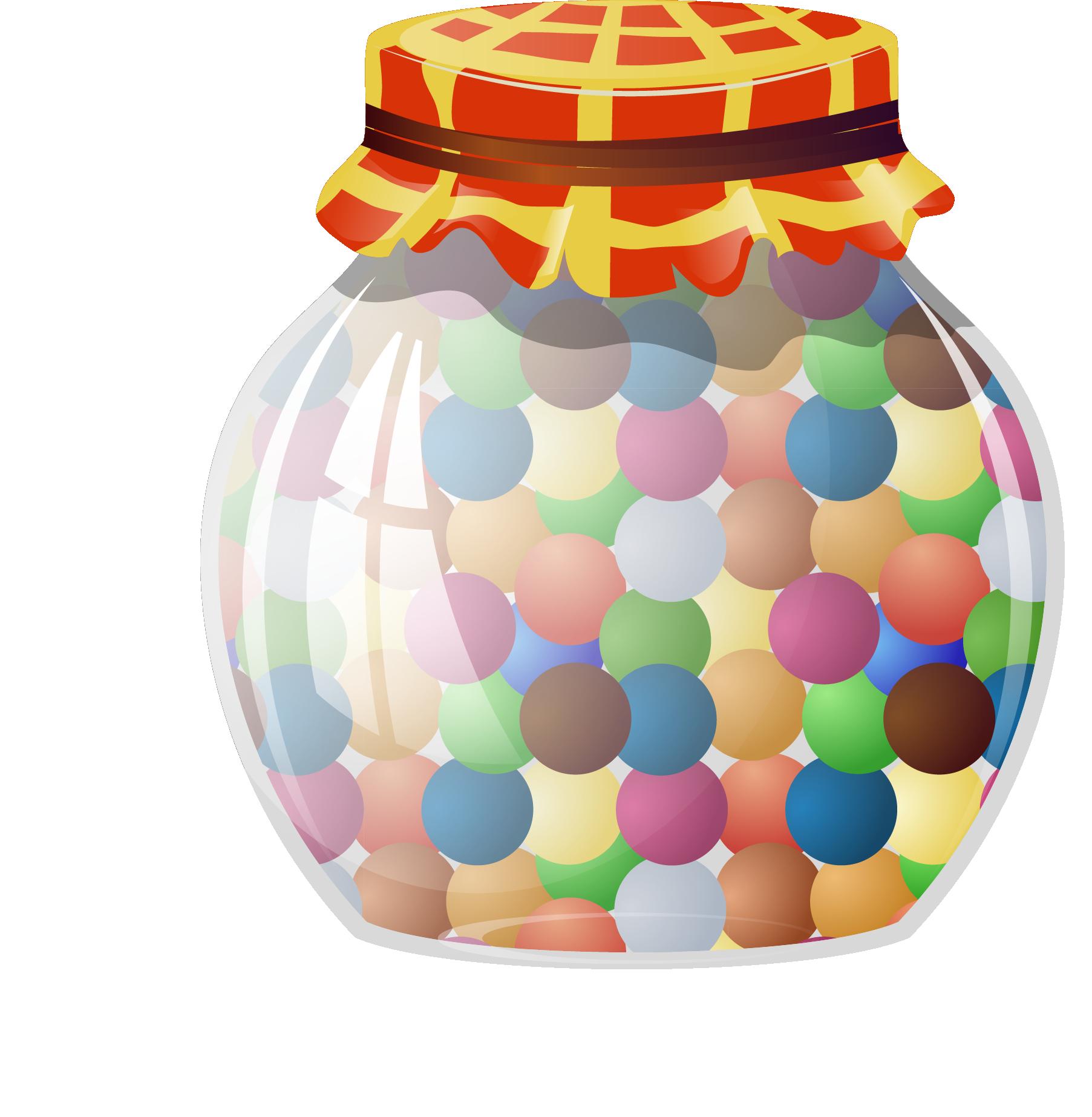 Candy jelly bean clip. Lollipop clipart jar