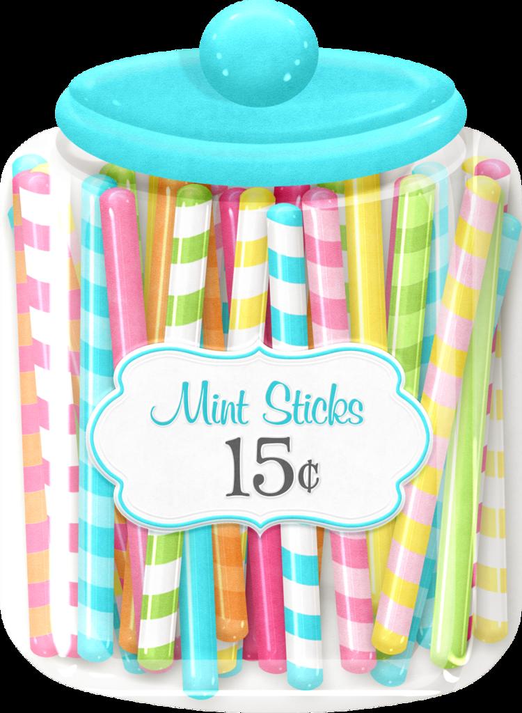 Jar mintsticks maryfran png. Clipart candy junk food