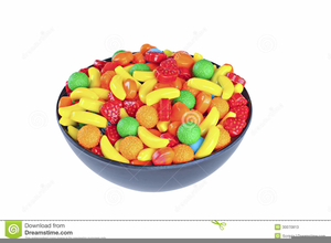 Clipart candy mixture. Bowl of free images