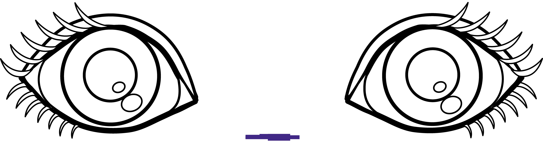 Sweet clip art. Eyes clipart outline