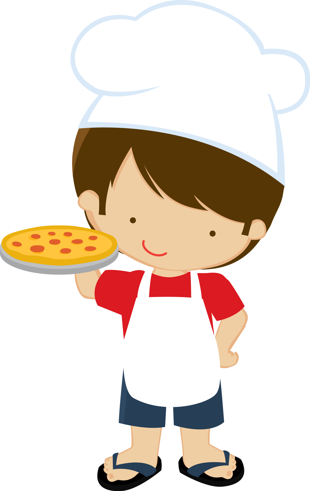 Zwd pizza party boy. Cooking clipart food sampling