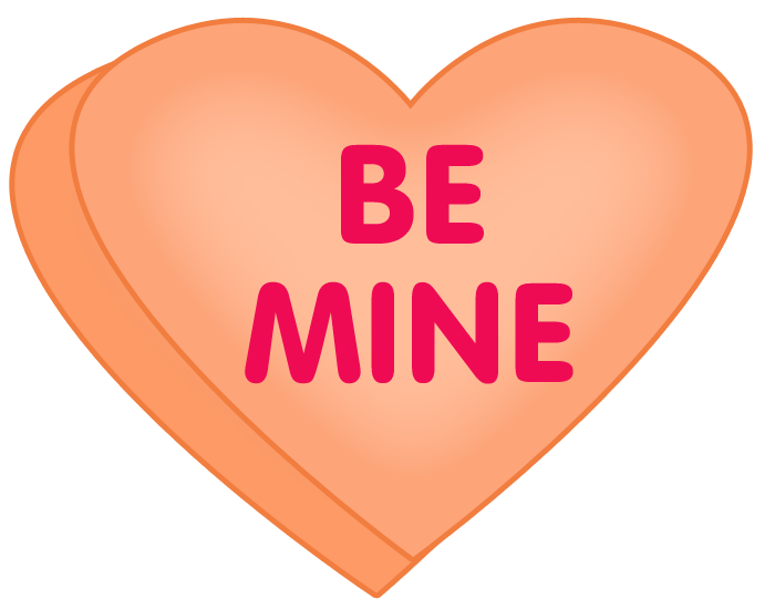 Candy hearts png. Valentine heart clipart