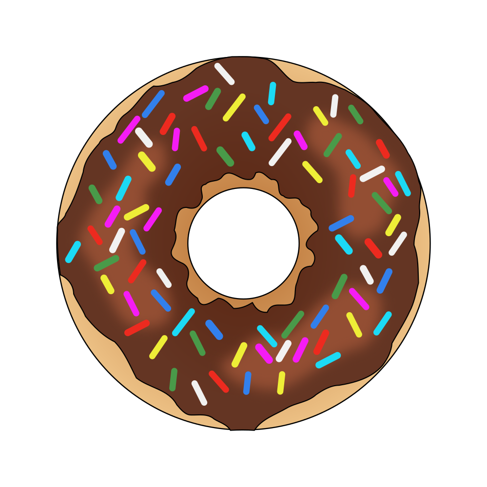 collection of rainbow. Donut clipart cart