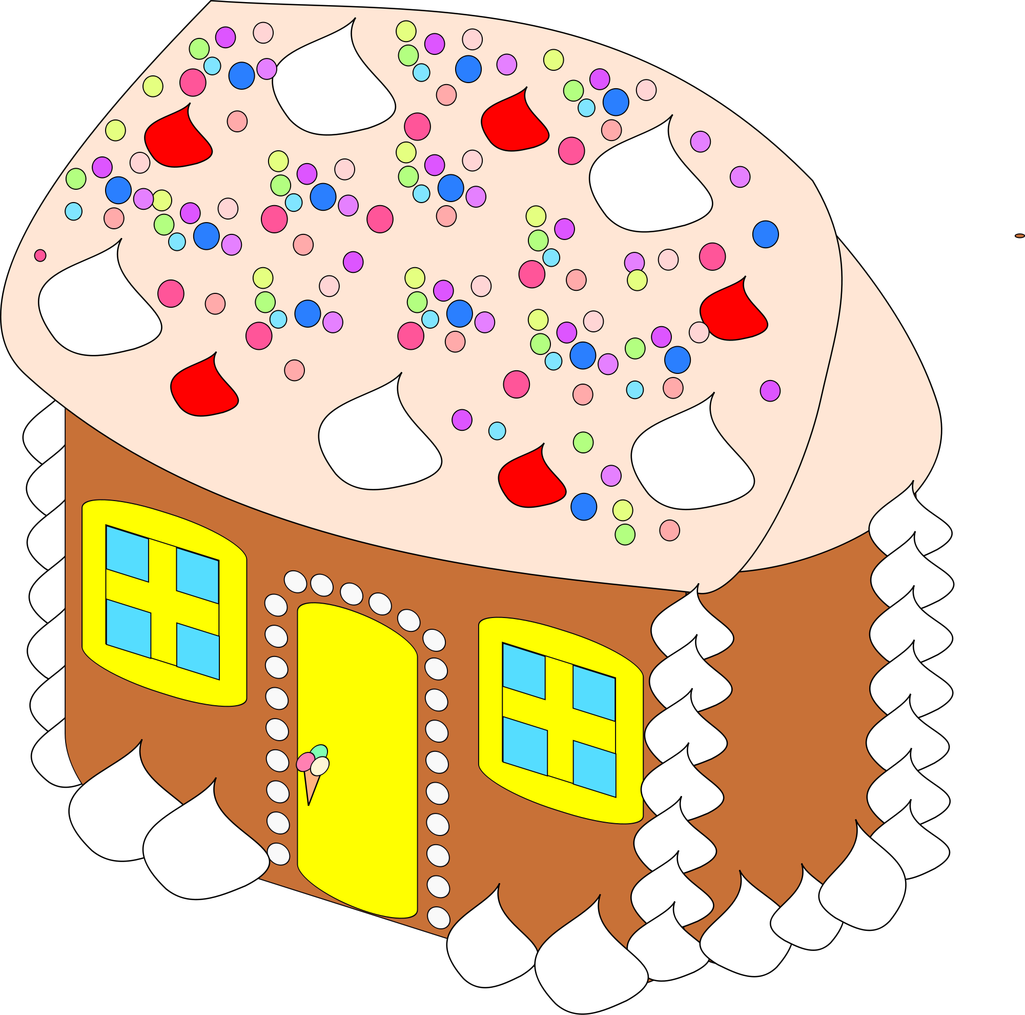 File sweet house svg. Clipart christmas sugar cookie