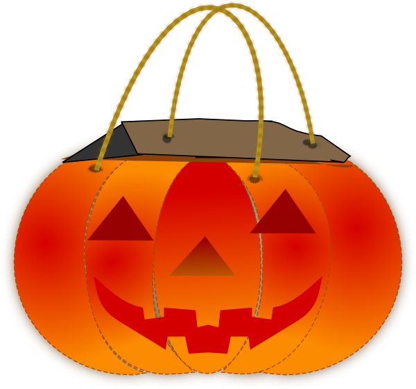 Patient clipart bag. Trick or treat pumpkin