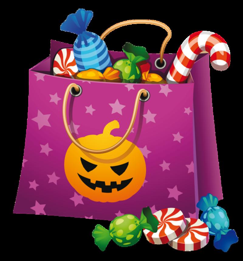 Bonbons fant mes citrouilles. Clipart halloween pink
