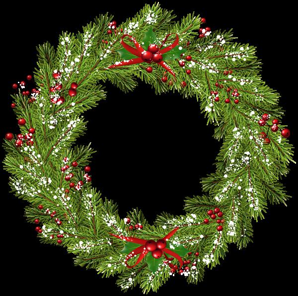 Christmas png clip art. Clipart winter wreath