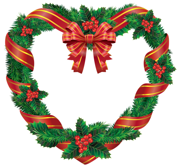 Transparent christmas heart png. Mickey clipart wreath
