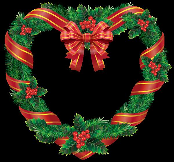 Transparent christmas heart png. Cotton clipart cotton wreath