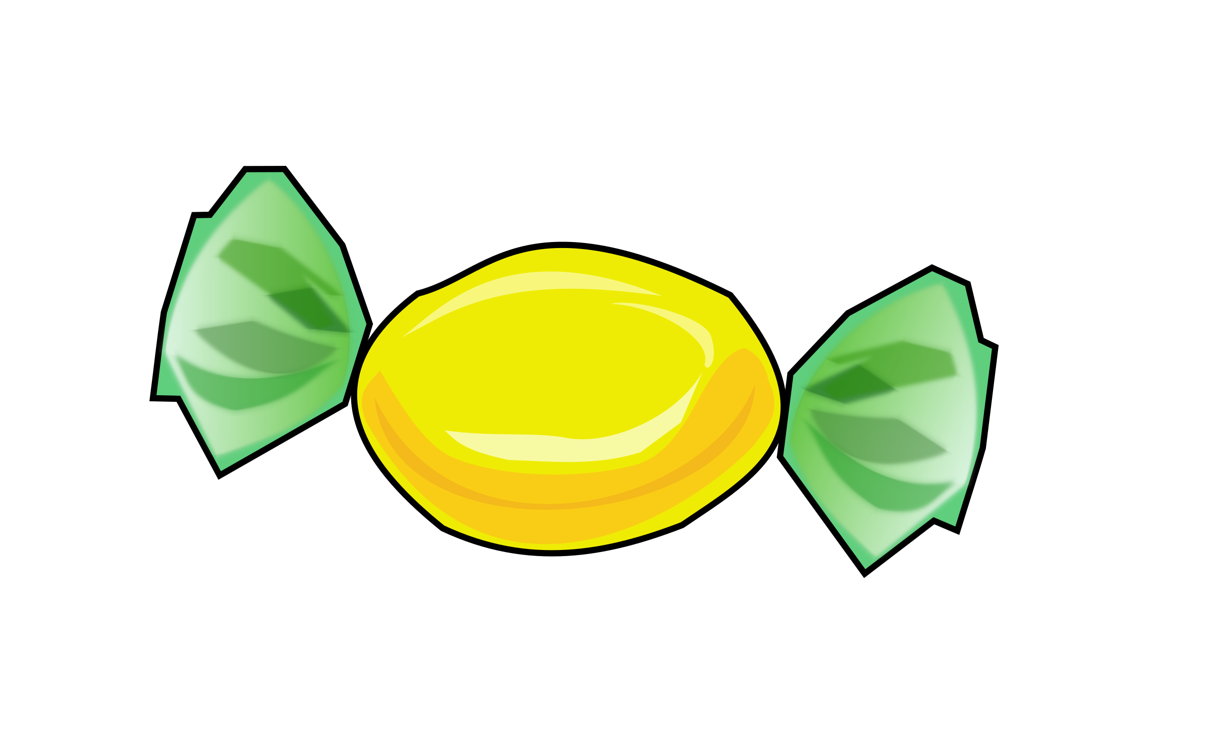 Yellow nimm big image. Clipart fruit candy