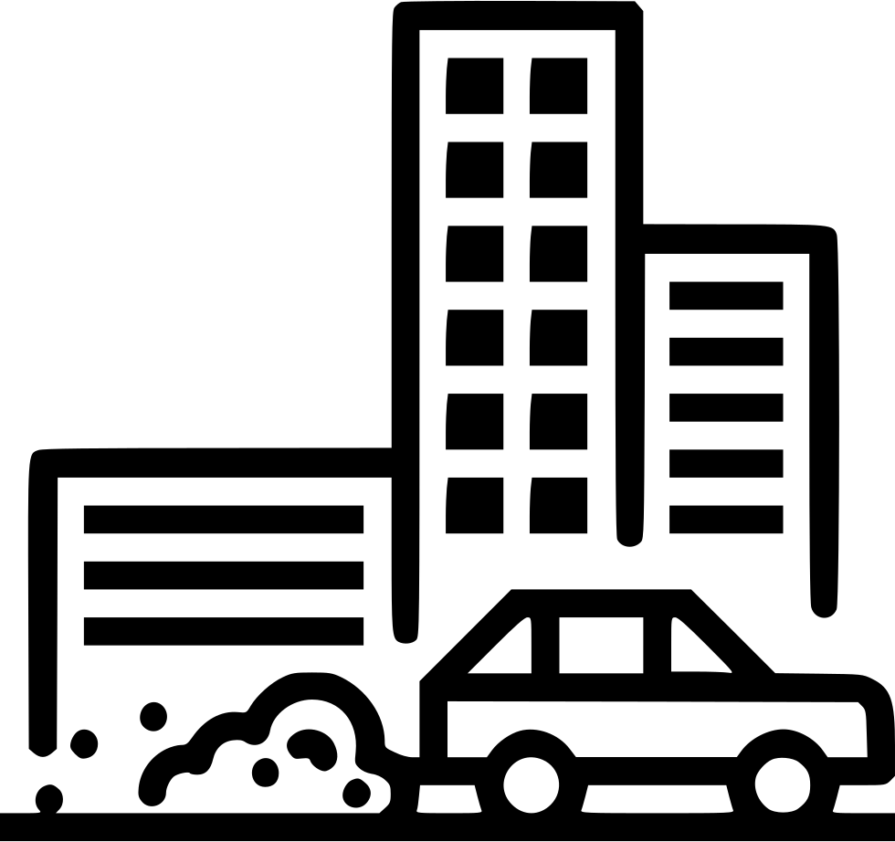 Savefuel waste building svg. Clipart car air pollution
