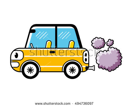 From station . Clipart cars air pollution