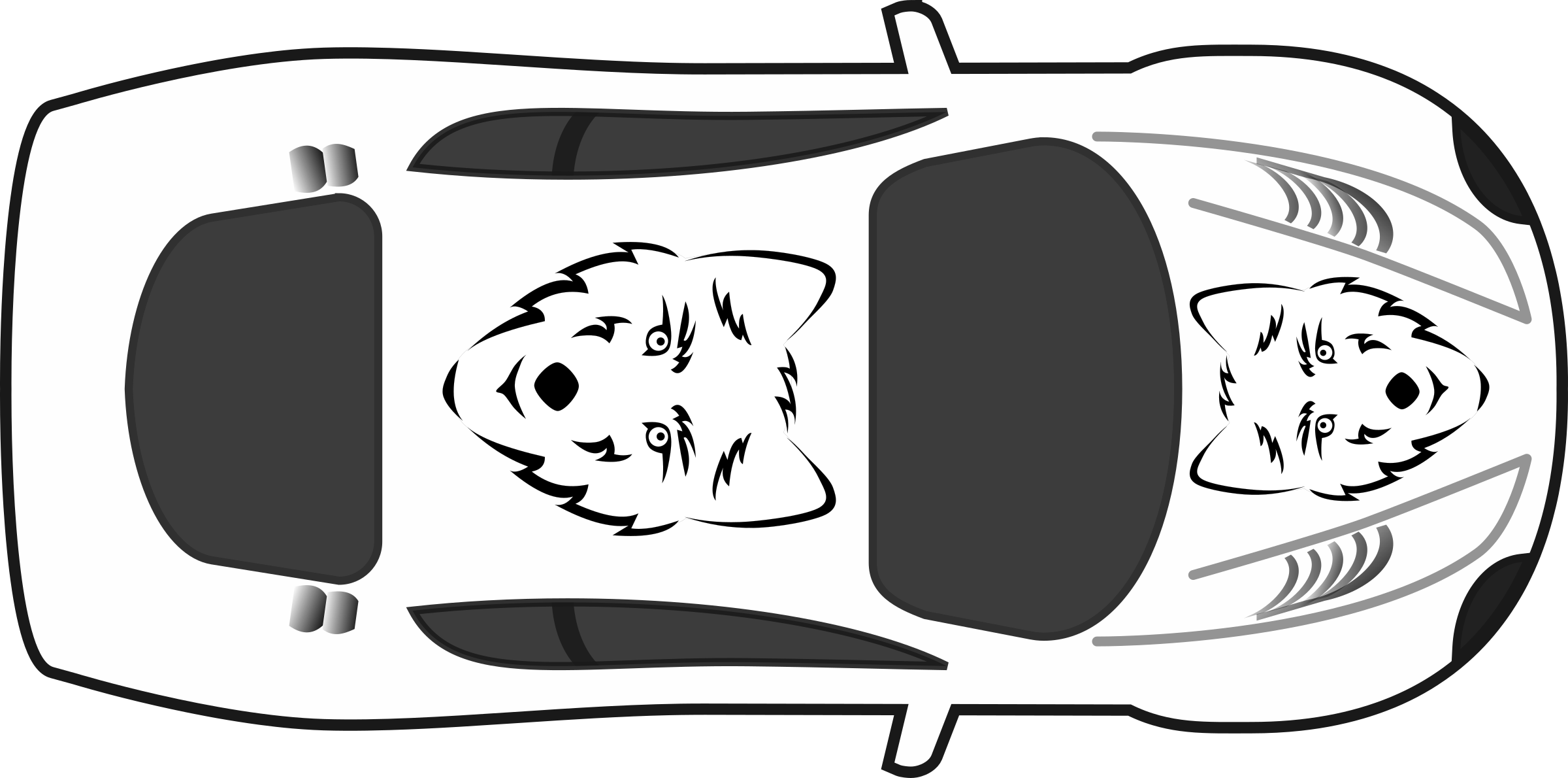 Wolf paint job on. Kind clipart top view