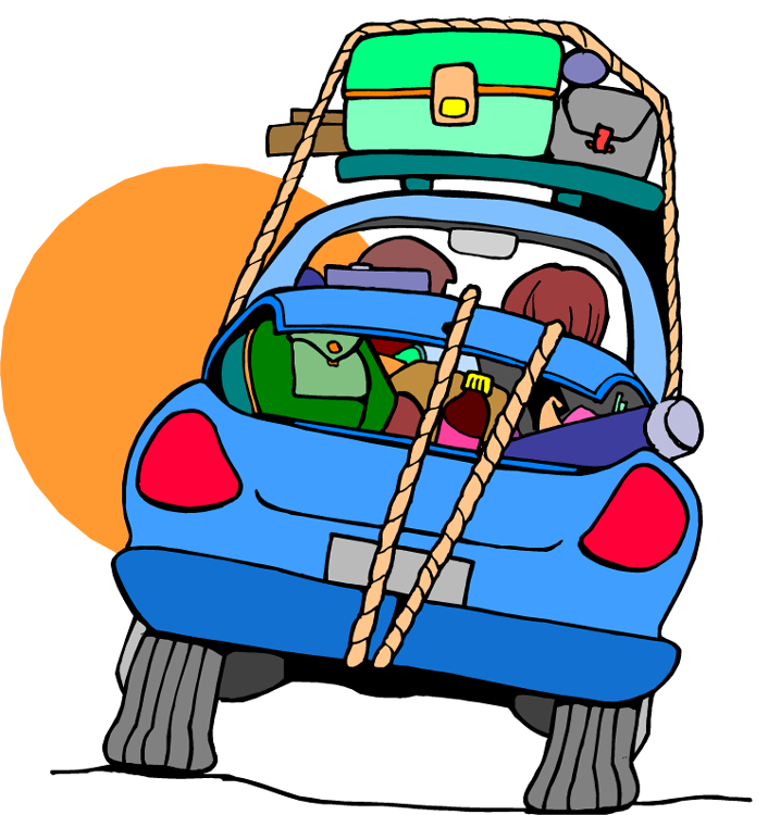 Blue car ride pencil. Clipart road beach road