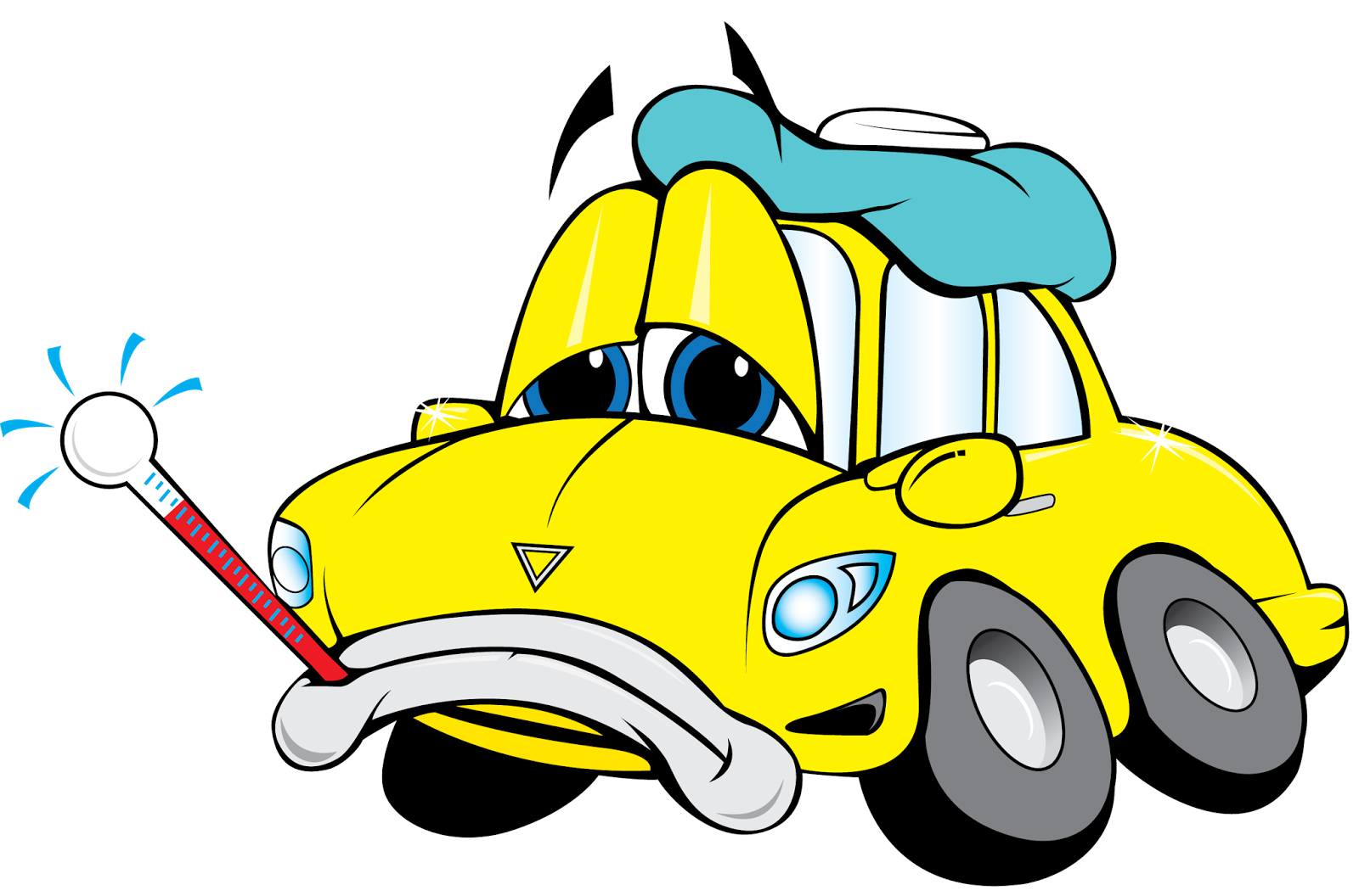 collection of junk. Clipart cars face