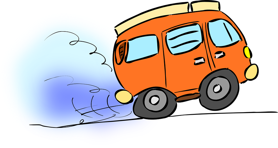Collection of cartoon cars. Minivan clipart mail van