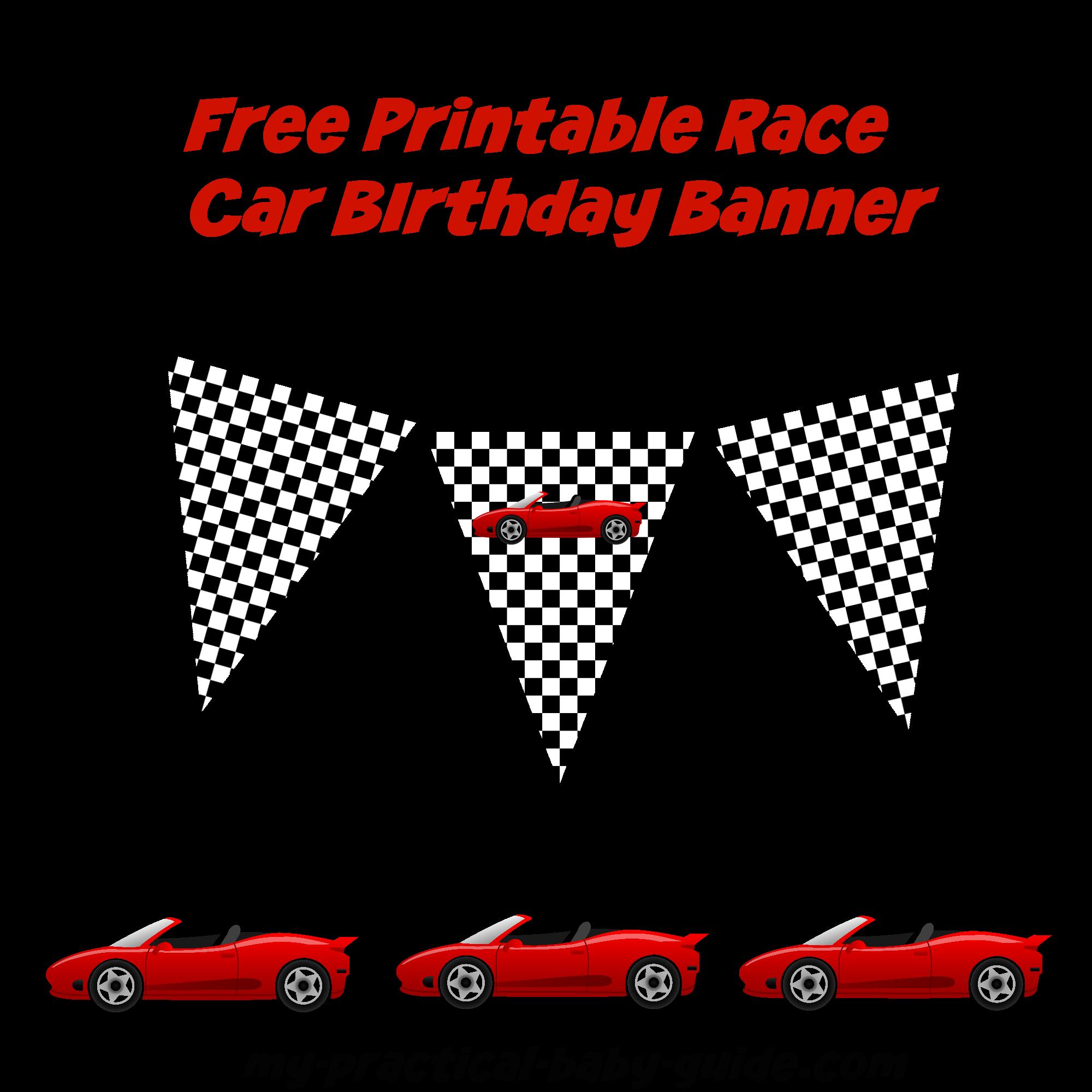 Race clipart racing banner. Coolest car birthday ideas